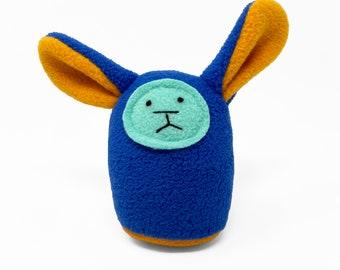 Plush Baby Rattle - Blue