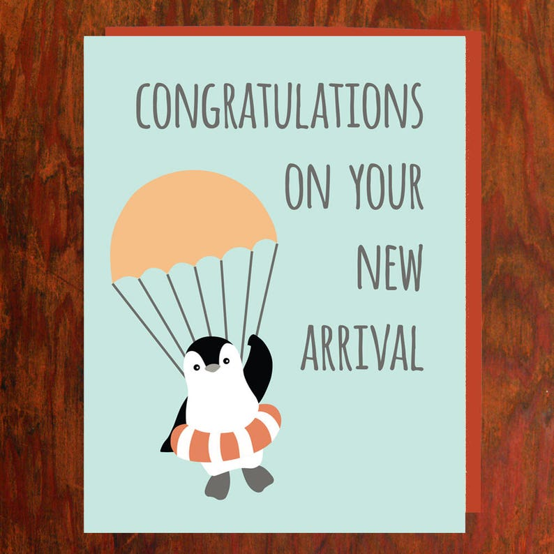 Congratulations On your New Arrival Baby Card  Blank Inside image 0
