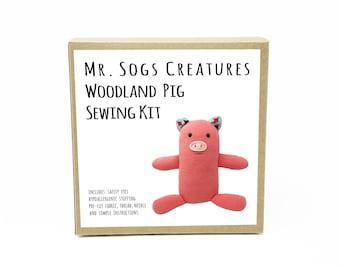Woodland Pig Plush Toy Sewing DIY Kit
