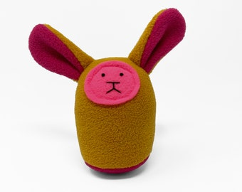 Plush Baby Rattle - Mustard