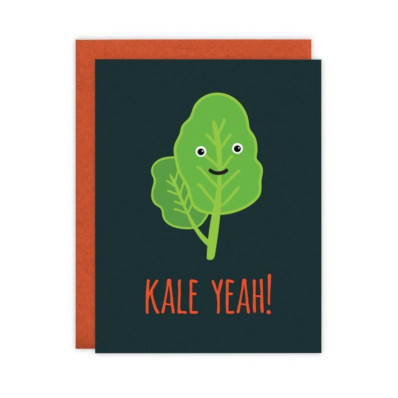Kale Yeah Card  Blank Inside image 0