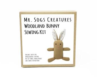 Woodland Bunny Plush Toy Sewing DIY Kit