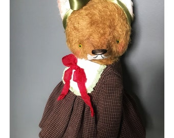 13 inch Artist Handmade Mohair Teddy Fox Florence by Sasha Pokrass