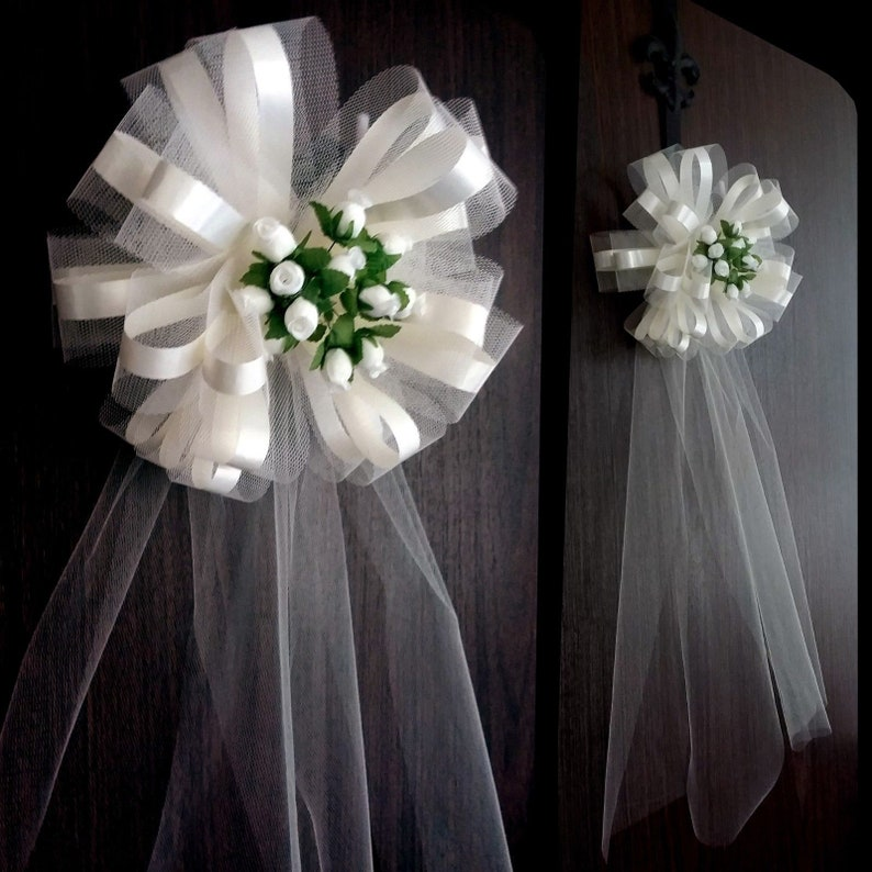 Church Flowers For Weddings: 6 Large 10 Ivory Wedding Pew Bows Church Decorations