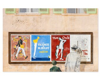 Jacques Tati Art Print - France Travel Photography Wall Art - Gift For Francophile - Movie Lover Gift - Theater Room Wall Decor