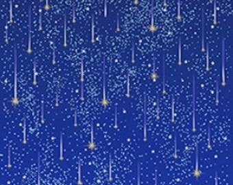 from Magic by Sarah James for Michael Miller Fabrics Lucky Stars with Cotton Metallic fabric by the yard MD7194-WHIT-D