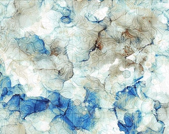 Dreamscapes Digital Multi 51242 11D by Ira Kennedy Morning Glory Multi Moda Fabric Fabric