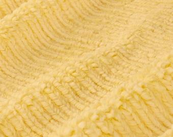 Dimple Plush Fleece Buttercup Yellow Minkee Cuddle Supersoft Fabric Dot