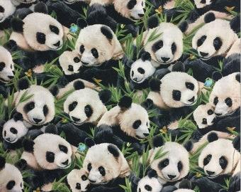 63f1f28ed4f64d Elizabeths Studio - Panda Bears - Pandas - Black - Fabric by the Yard  1329E-BLK