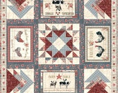 Wilmington Prints - Farmhouse Chic - 50 quot Square Table Topper Quilt Kit (includes fabric for top of quilt binding) - AAFQK-523