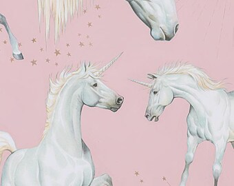 Alexander Henry Fabric Metallic Stars Of The Unicorn Sky HALF METRE