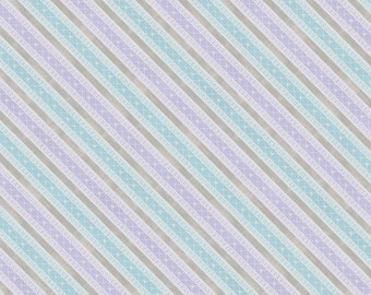 "7//8/"" #4045 Blue Diagonal Stripe 22mm by the meter Grosgrain Ribbon"