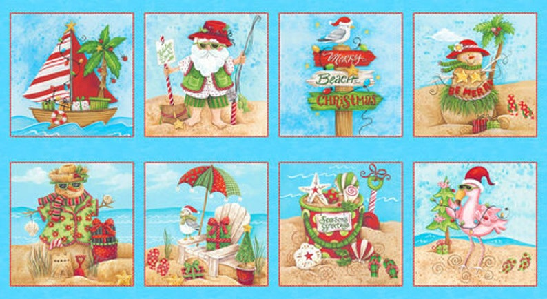 - AAFQK-239 Includes pattern /& fabric for top of quilt and binding Blank Quilting Holiday Beach #2-64 x 80 Throw Quilt Kit