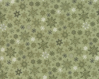 Moda - Once Upon A Memory - Winter Snowflakes - Eucalyptus - Fabric by the Yard 6735-18