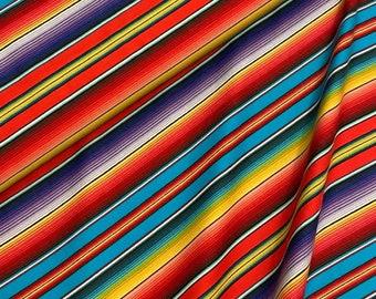 Elizabeths Studio - Fiesta - Mexican Sombrero Stripe - Orange - Cotton Fabric by the Yard or Select Length 263E-ORG