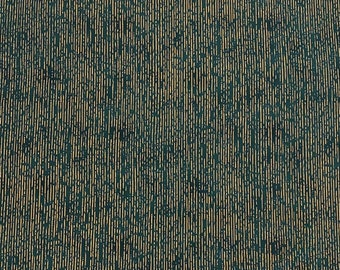 Stof - Christmas is Near - Stripes w/ Metallic Gold - Green - Cotton Fabric by the Yard or Select Length ST4598A-804