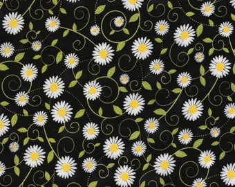 Timeless Treasures - You Are My Sunshine - Sunflowers - Black - Cotton Fabric by the Yard or Select Length C5498-BLK