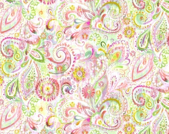 Wilmington Prints - Bohemian Dreams - Dream Paisley - Pink - Fabric by the Yard 89196-375