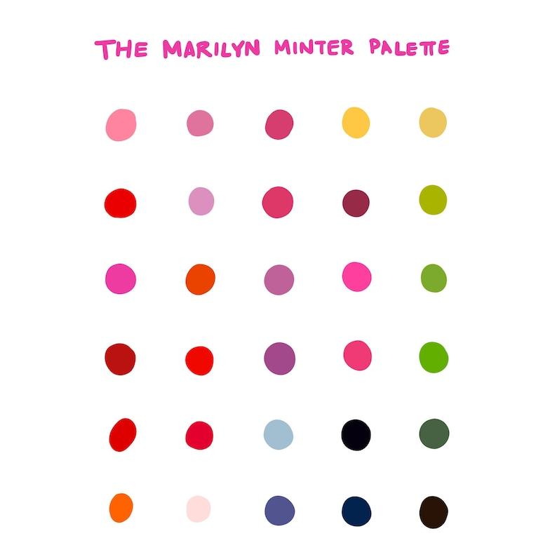 cf3cb42ce1efe Procreate Color Palette: Marilyn Minter - Instant Download
