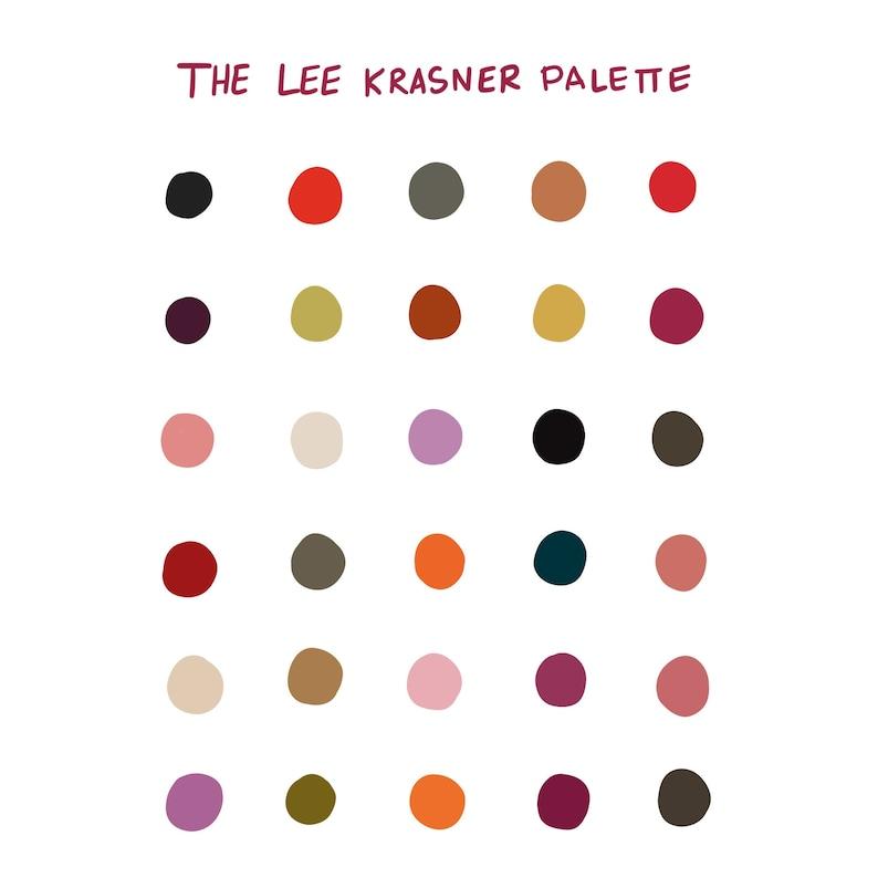 b0c02db65685b Procreate Color Palette: Lee Krasner - Instant Download