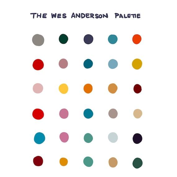 1a2efcd9033d8 Procreate Color Palette: Wes Anderson - Instant Download