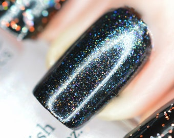 GHOULS In YOUR PANTIES Multi Color Shimmer Halloween Nail polish Top Coat