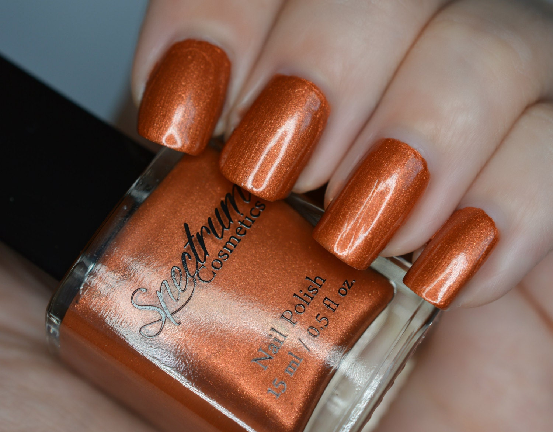 Orange Nail Polish CRYPT Halloween Shade | Etsy