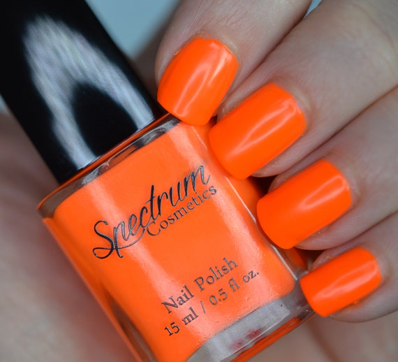 Live Wire Neon Orange Nail Polish Etsy This web color is described by the following tags: live wire neon orange nail polish