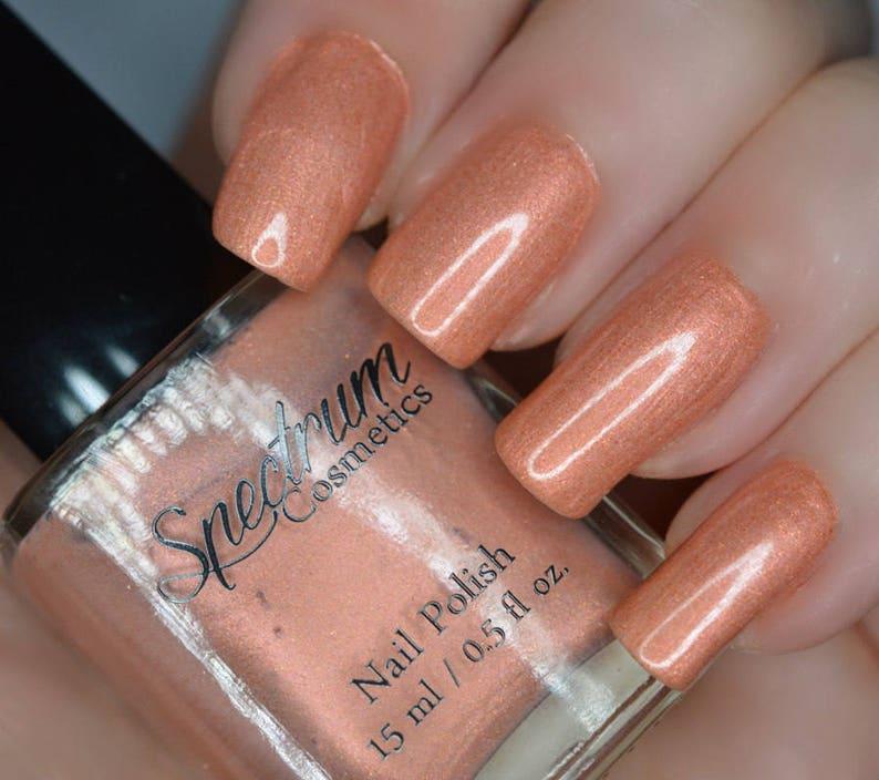 RUMOR Peach Shimmer Nail Polish
