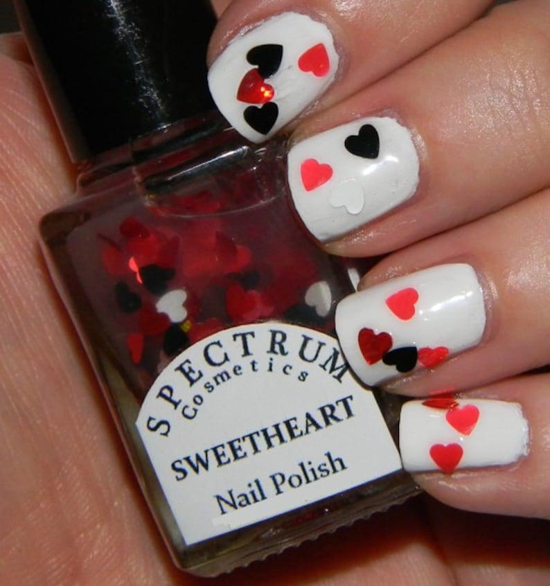 SWEETHEART Nail Polish Glitter Heart Top Coat | Etsy