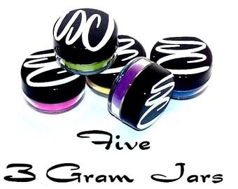 5 Eyeshadows You Choose the Colors Packaged in 3 Gram Jars