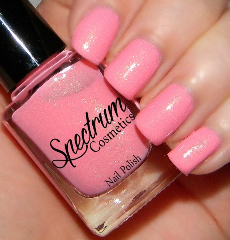 PEONY Pastel Pink Spring Nail Polish   Etsy