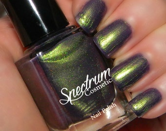 SOUR GRAPES Duochrome Nail Polish Green to Purple Color Shift
