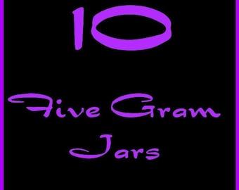 TEN  5 gram jars of Eyeshadow in  Colors of Your Choice
