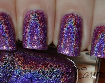 FAIRY TALE Linear Holographic Pink Violet Purple Nail Polish