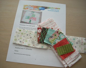 juniper berry mini Christmas tree quilt KIT - FREE SHIPPING