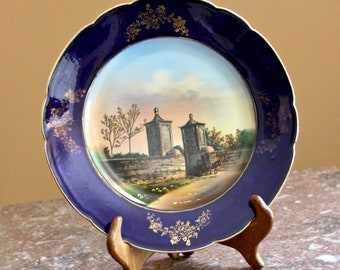 JonRoth Souvenir Plate - St. Augustine Florida, Old City Gate - made in Germany, for Thos. C. Imeson