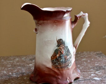 Vintage Ceramic Pitcher for milk, beer, water, etc. - German?