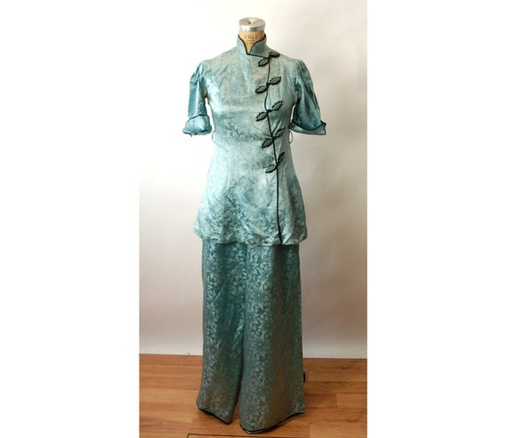 E 1930s Tunica Lounging Seta Pantaloni Etsy Di Cinesi Pigiami YY1qB