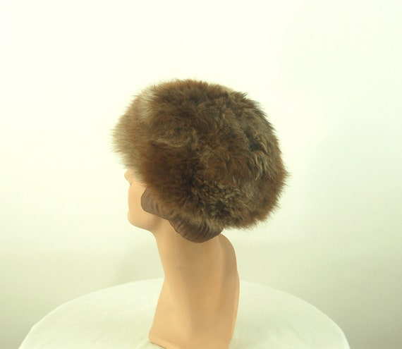 1960s fur hat possum fur hat Russian style hat - image 2