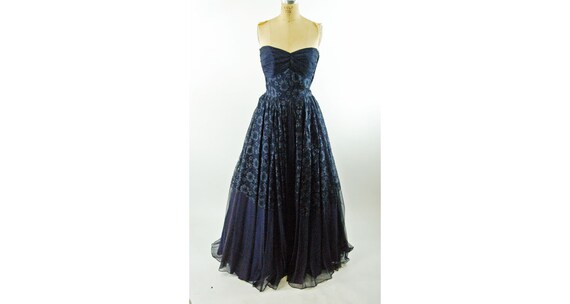 1950s strapless gown with bolero jacket silk and l