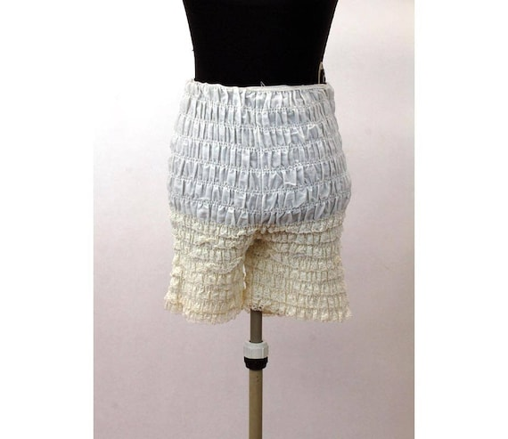 6c51a93124 Ruffled lace bloomers pettipants square dance pants white