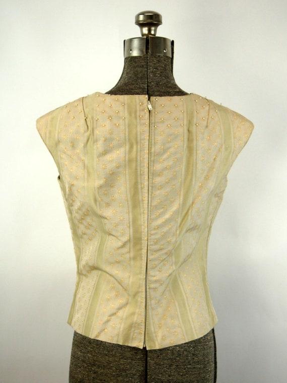 1960s suit green corduroy three piece skirt suit … - image 4
