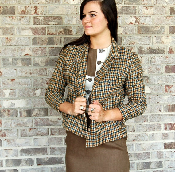 1960s wool suit, plaid suit, tweed suit, jacket an