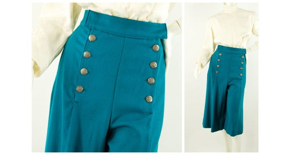 Victorian riding pants gauchos high waist split sk