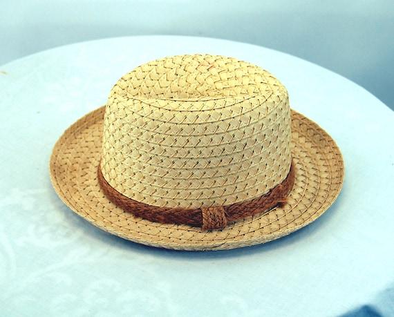 Straw fedora hat jute band summer hat natural str… - image 5