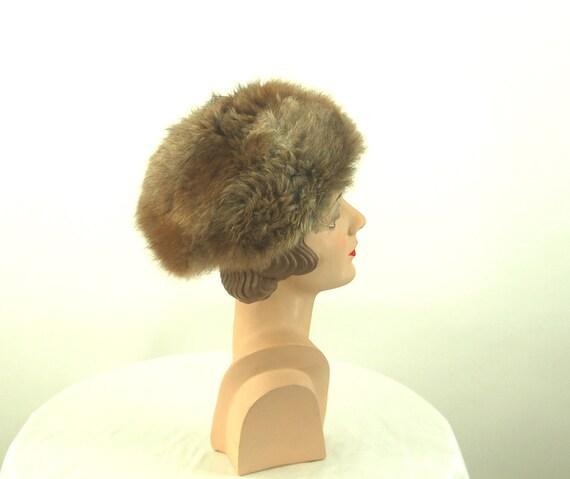 1960s fur hat possum fur hat Russian style hat - image 3