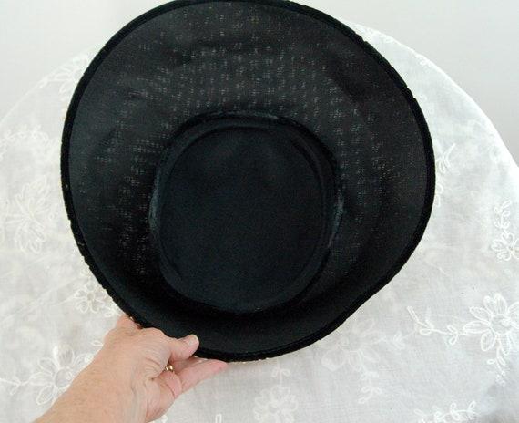 1950s saucer hat New Look dish platter hat black … - image 6