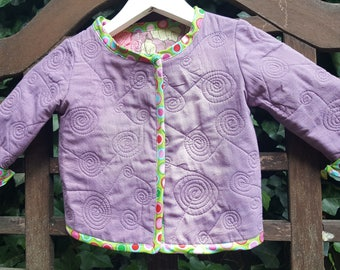 100% Cotton Quilted Baby Cardigan/Jacket