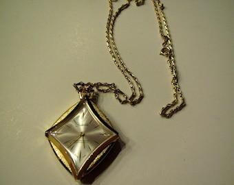 Swiss made pendant watch etsy vintage diamond shaped sheffield swiss made aluminum watch pendant necklace aloadofball Gallery